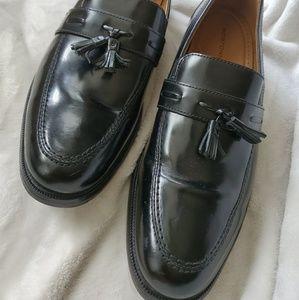 Black tassel Loafers 12 D slip on shoes
